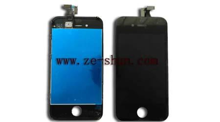 Cellphone LCD Replacement for iphone 4G LCD + touchpad complete black
