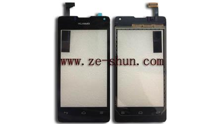 Black Cellphone Replacement Touch Screens For Huawei Y300